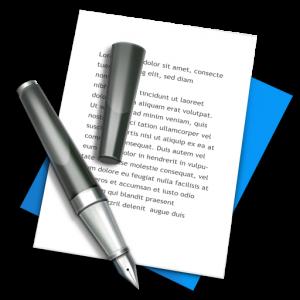 Текст статьи написан ручкой - иконка изображения