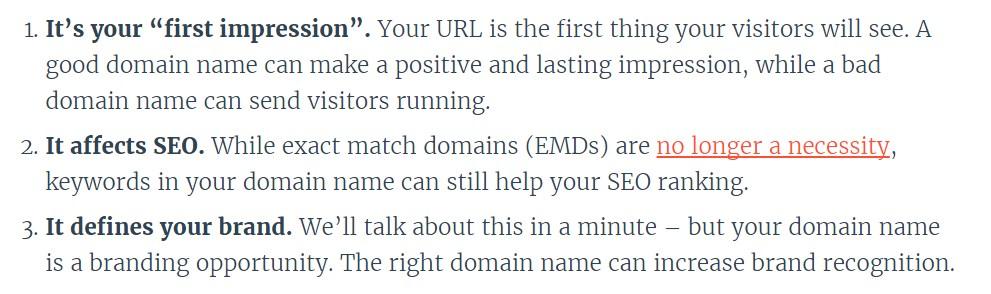 146 Во-первых, сохраняйте спокойствие. Ваше имя домена должно быть простым, иначе от вас отвернутся пользователи.