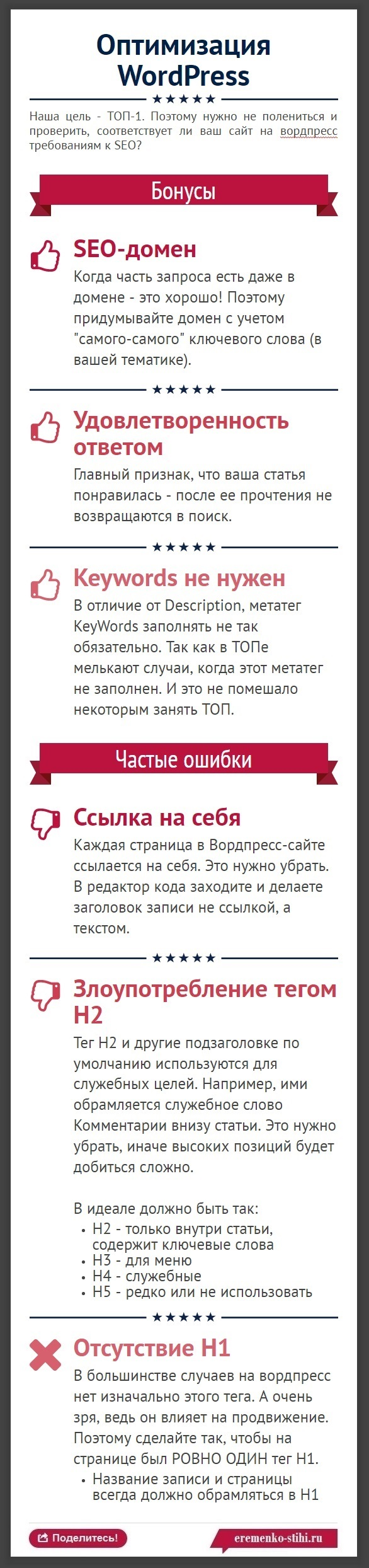 251 Как SEO-оптимизировать wordpress - инфографика