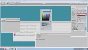 Настраиваем цвет фона - у main camera меняем solid color