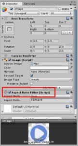 Добавьте к картинке Aspect ratio filter, чтобы она не ужималась при растягивании экрана.